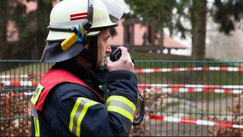 AFRRCS: firefighter using radio